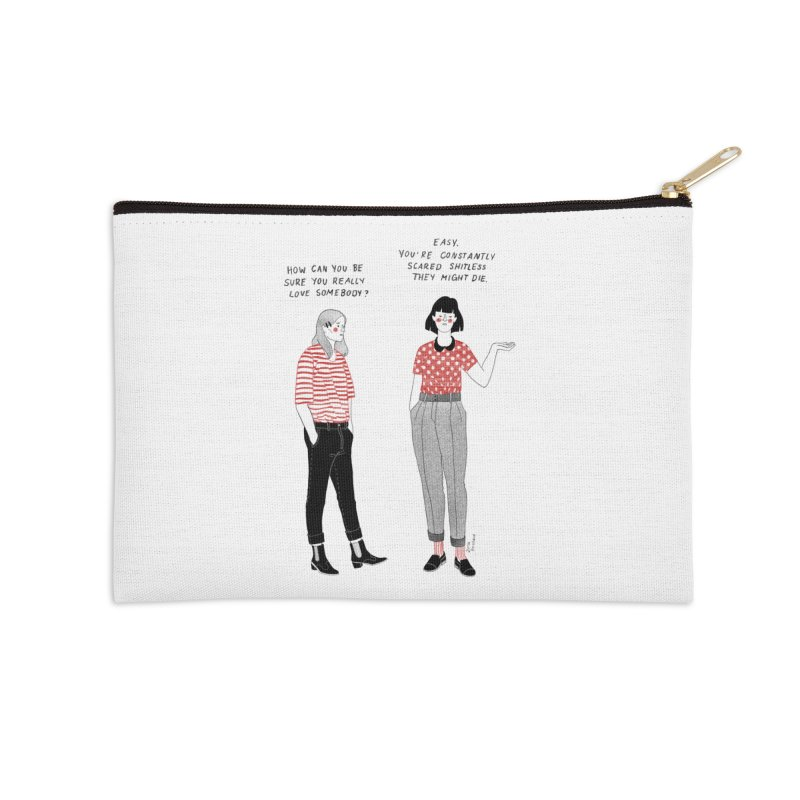 True Love Accessories Zip Pouch by juliabernhard's Artist Shop