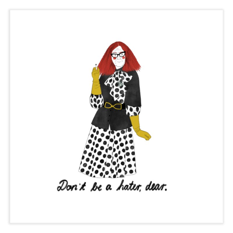 Myrtle Snow Home Fine Art Print by Julia Bernhard