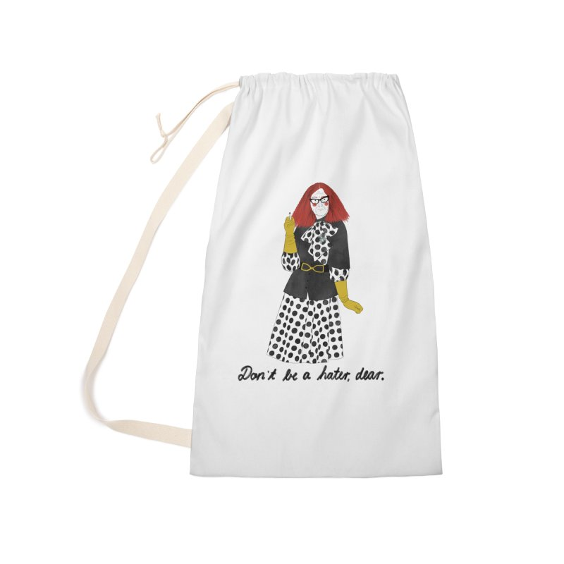 Myrtle Snow Accessories Laundry Bag Bag by Julia Bernhard