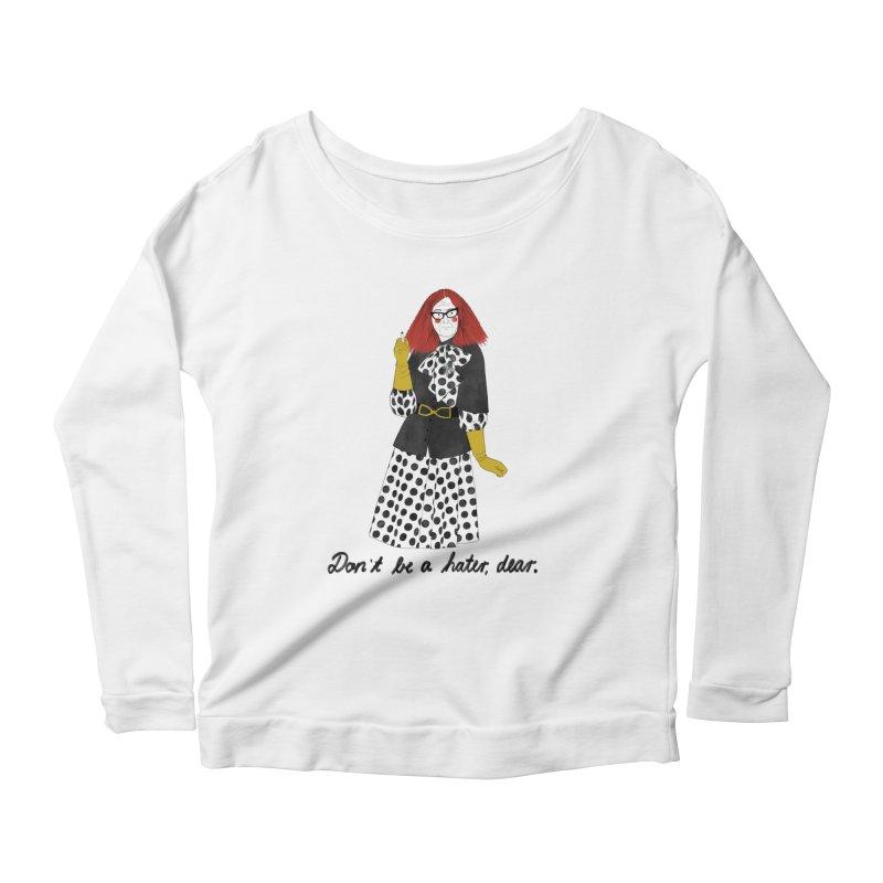 Myrtle Snow Women's Scoop Neck Longsleeve T-Shirt by Julia Bernhard