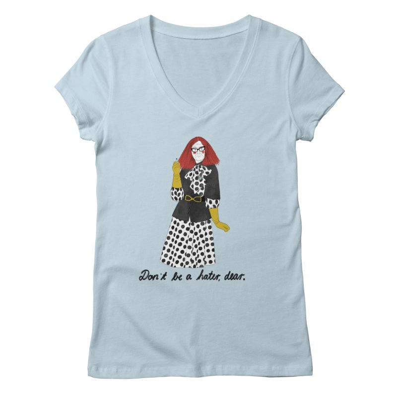 Myrtle Snow Women's Regular V-Neck by juliabernhard's Artist Shop