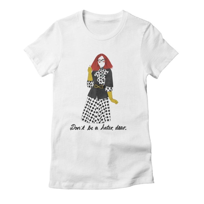 Myrtle Snow Women's Fitted T-Shirt by juliabernhard's Artist Shop