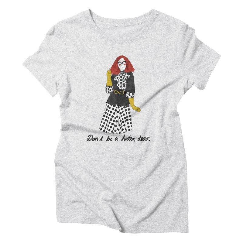 Myrtle Snow Women's Triblend T-Shirt by juliabernhard's Artist Shop