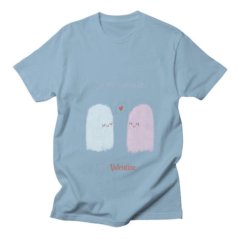 Do you wanna be my Valentine? Men's T-Shirt by Juliana Motzko