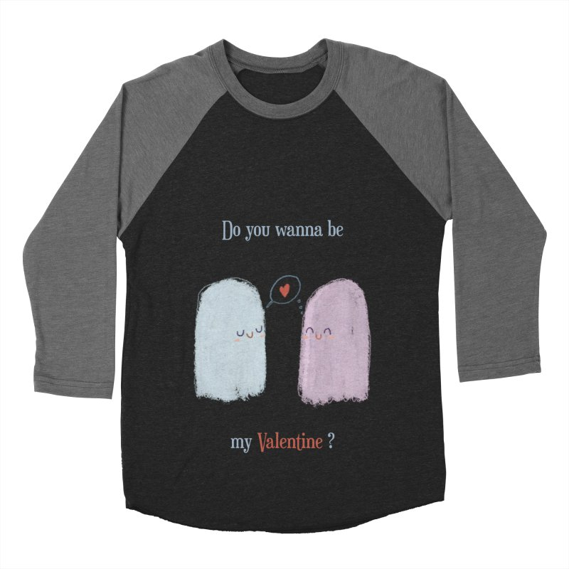 Do you wanna be my Valentine? Women's Baseball Triblend T-Shirt by Juliana Motzko