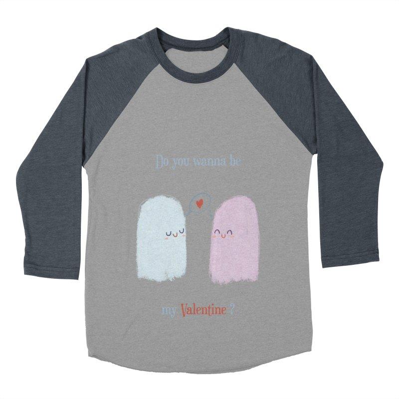 Do you wanna be my Valentine? Women's Baseball Triblend T-Shirt by Juliana Motzko
