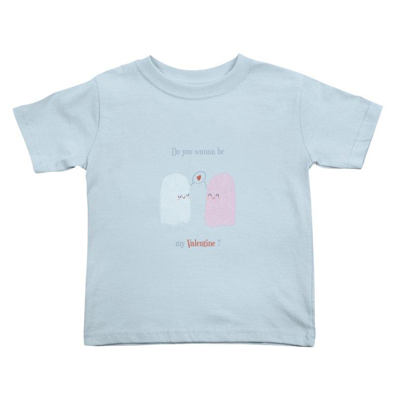 Do you wanna be my Valentine? Kids Toddler T-Shirt by Juliana Motzko
