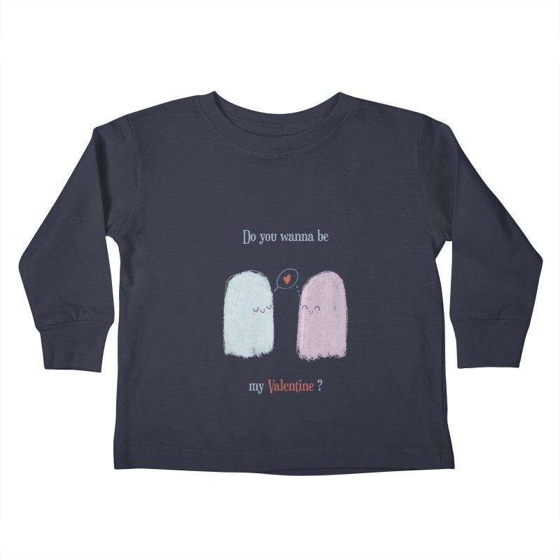 Do you wanna be my Valentine? Kids Toddler Longsleeve T-Shirt by Juliana Motzko