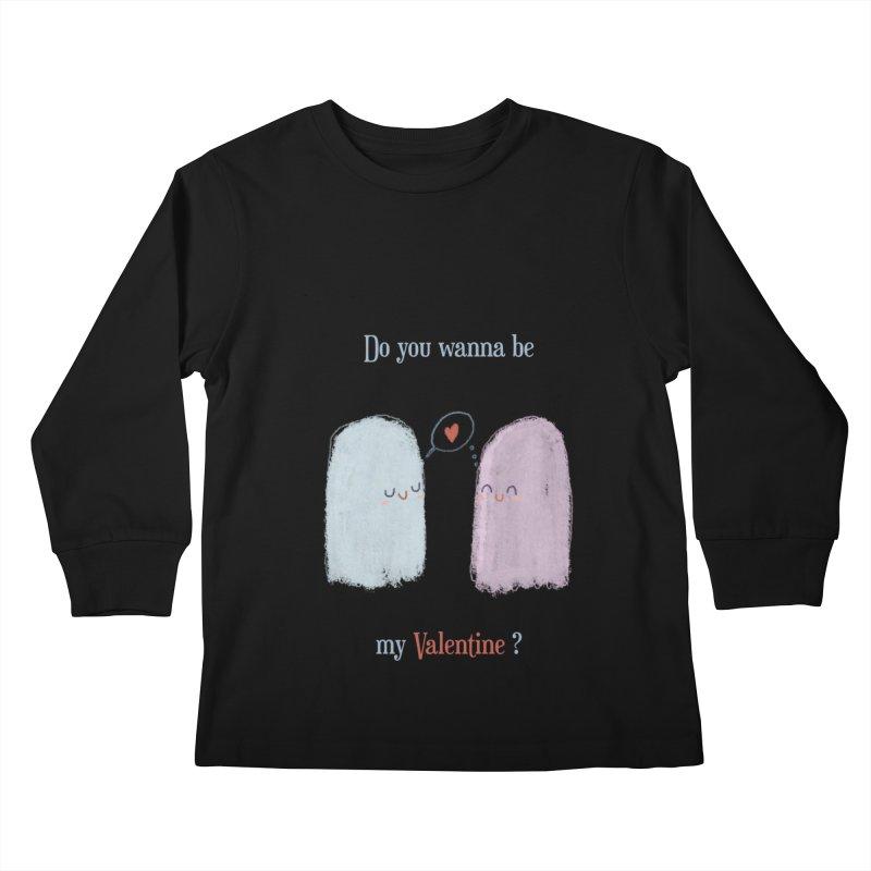 Do you wanna be my Valentine? Kids Longsleeve T-Shirt by Juliana Motzko