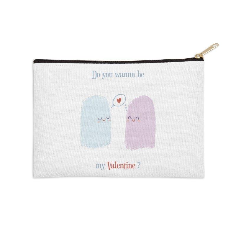 Do you wanna be my Valentine? Accessories Zip Pouch by Juliana Motzko