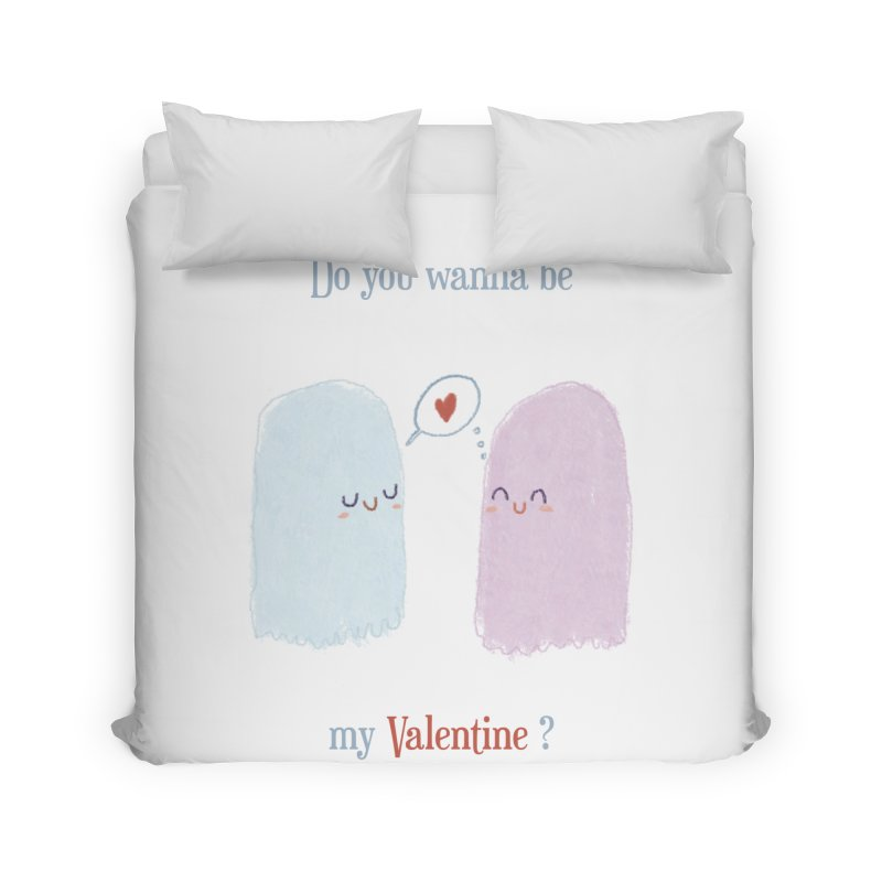 Do you wanna be my Valentine? Home Duvet by Juliana Motzko