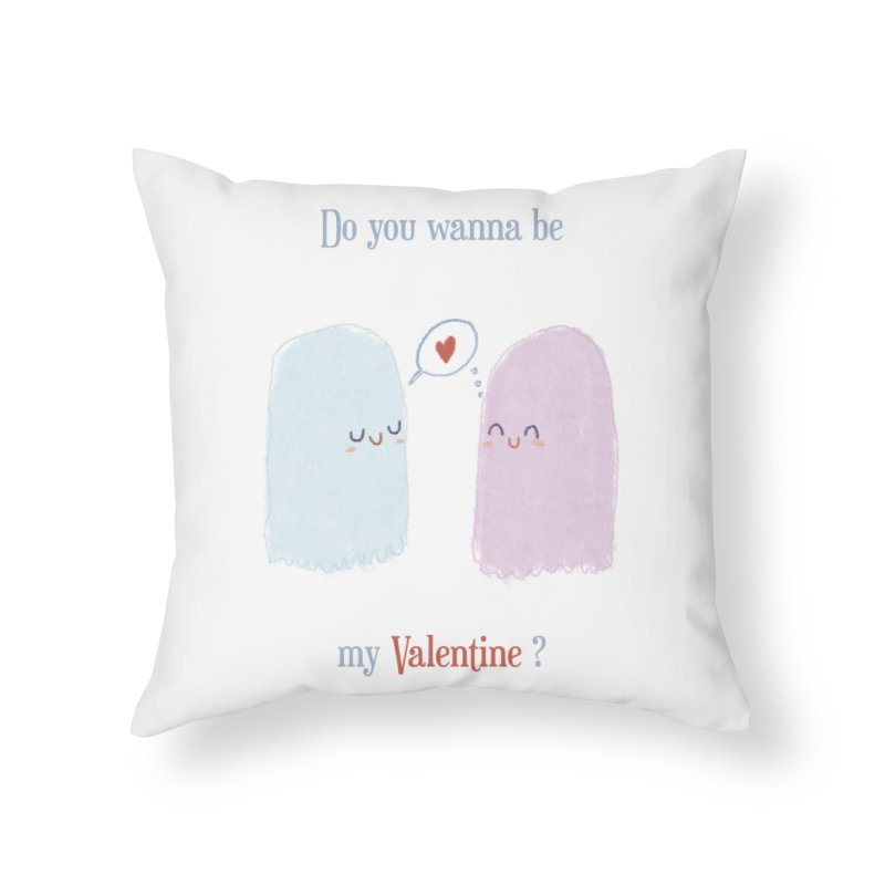 Do you wanna be my Valentine? Home Throw Pillow by Juliana Motzko