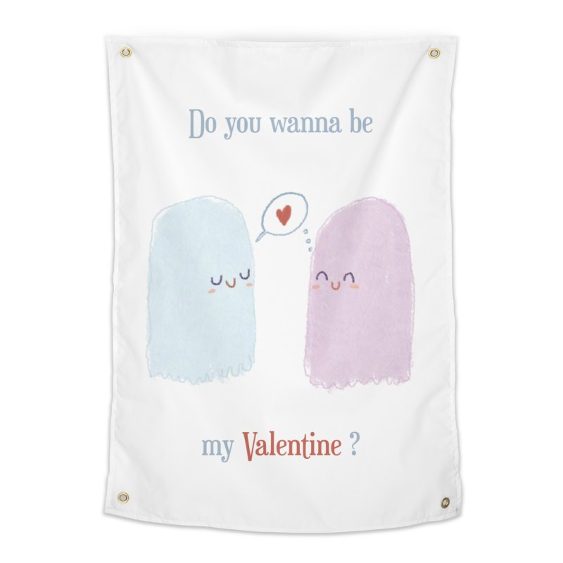 Do you wanna be my Valentine? Home Tapestry by Juliana Motzko