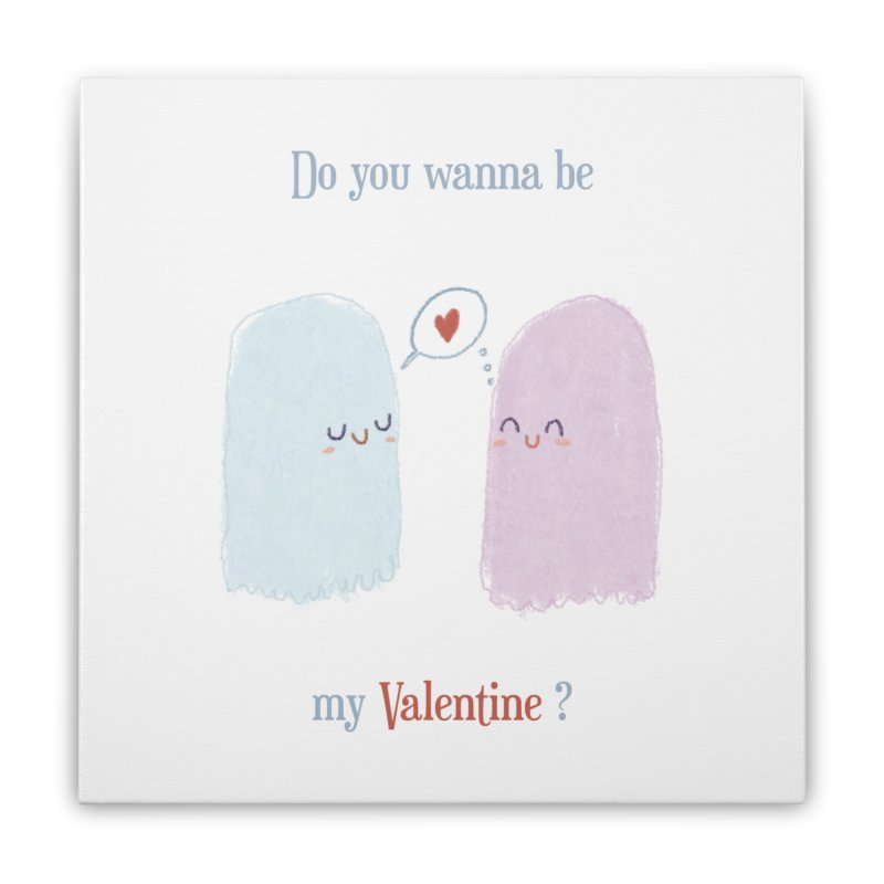 Do you wanna be my Valentine? Home Stretched Canvas by Juliana Motzko