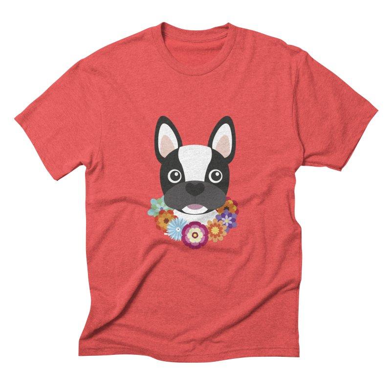 French Bulldog Men's Triblend T-Shirt by Juliana Motzko