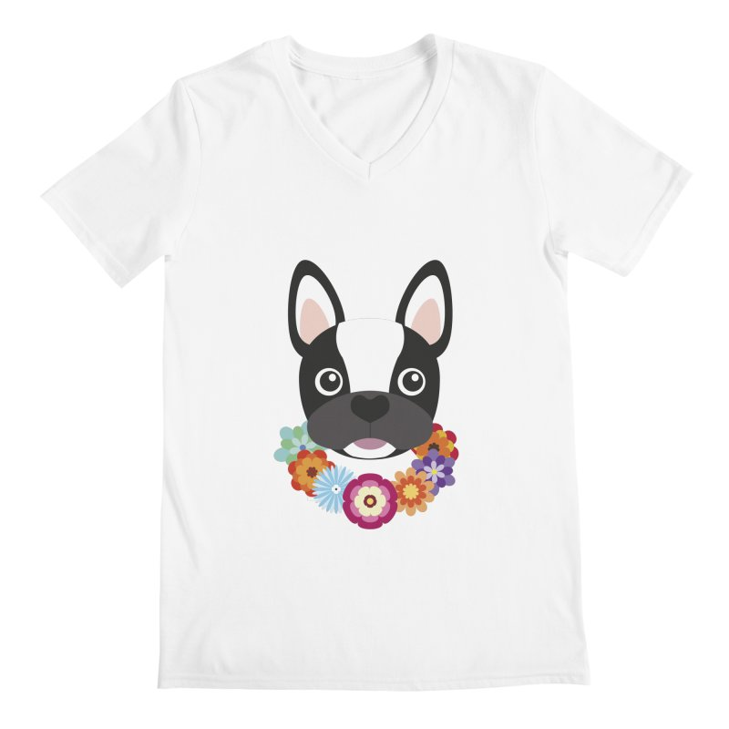 French Bulldog Men's V-Neck by Juliana Motzko