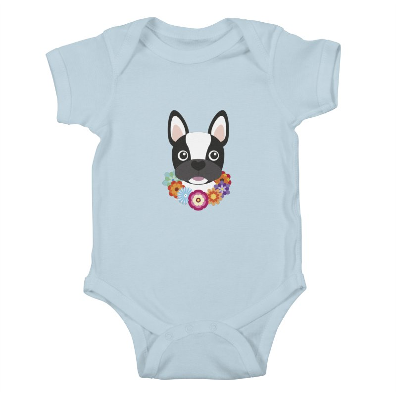 French Bulldog Kids Baby Bodysuit by Juliana Motzko