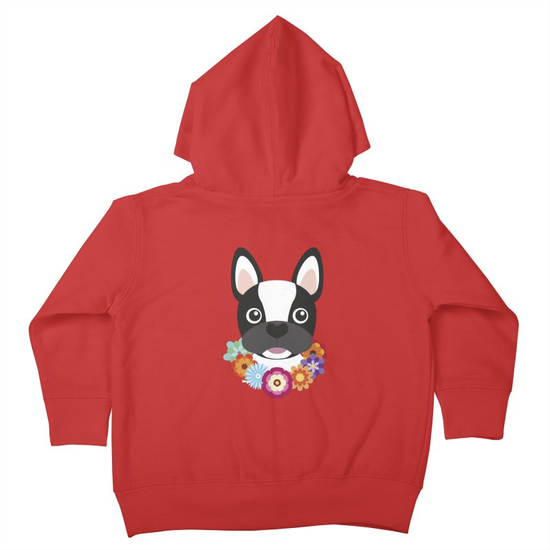 French Bulldog Kids Toddler Zip-Up Hoody by Juliana Motzko