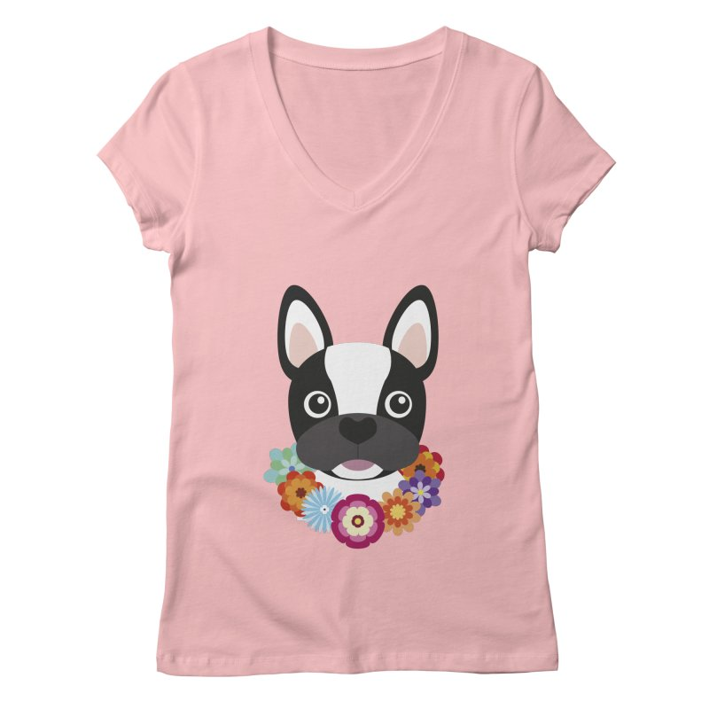 French Bulldog Women's V-Neck by Juliana Motzko