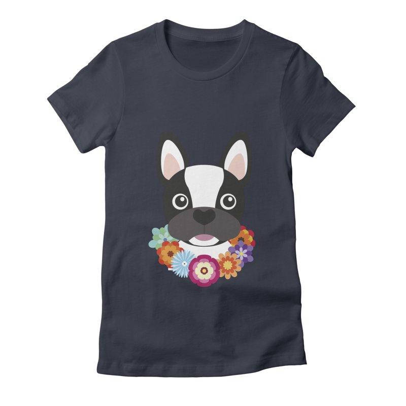 French Bulldog Women's Fitted T-Shirt by Juliana Motzko