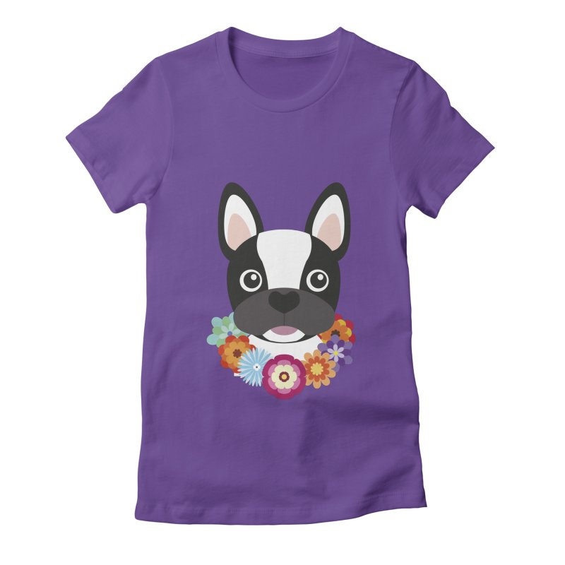 French Bulldog Women's Fitted T-Shirt by Juliana Motzko