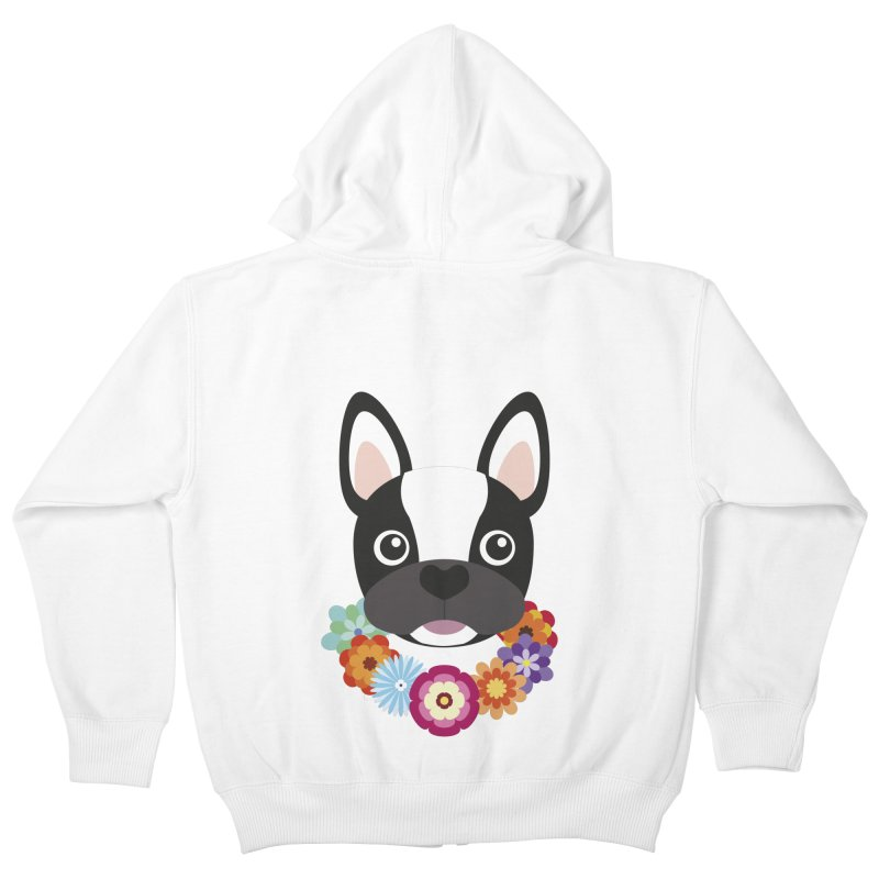 French Bulldog Kids Zip-Up Hoody by Juliana Motzko