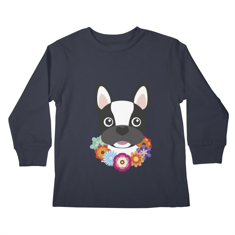 French Bulldog Kids Longsleeve T-Shirt by Juliana Motzko