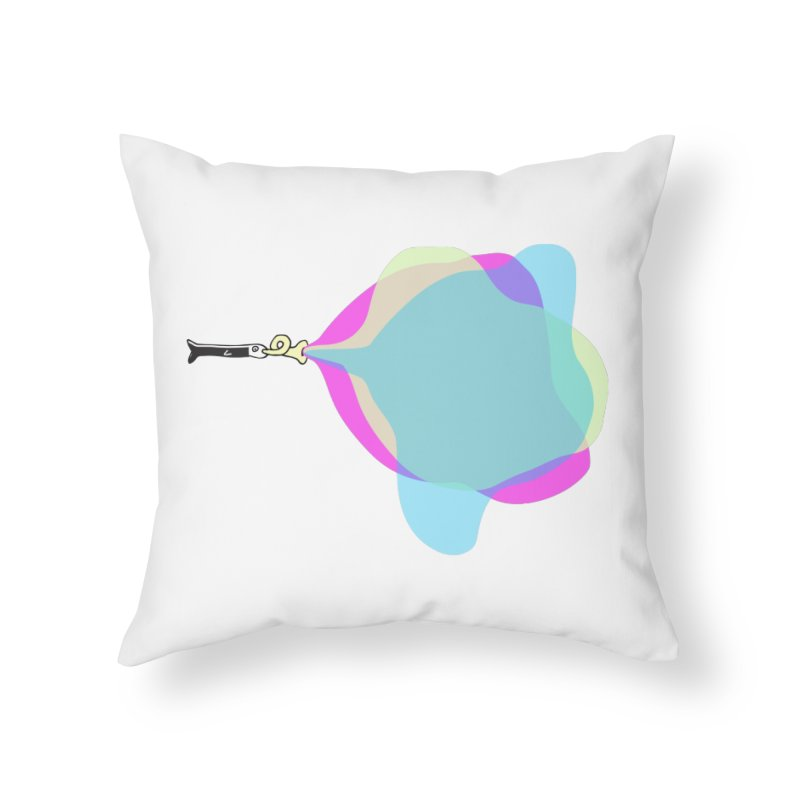 Tune Fish Home Throw Pillow by julianepieper's Artist Shop