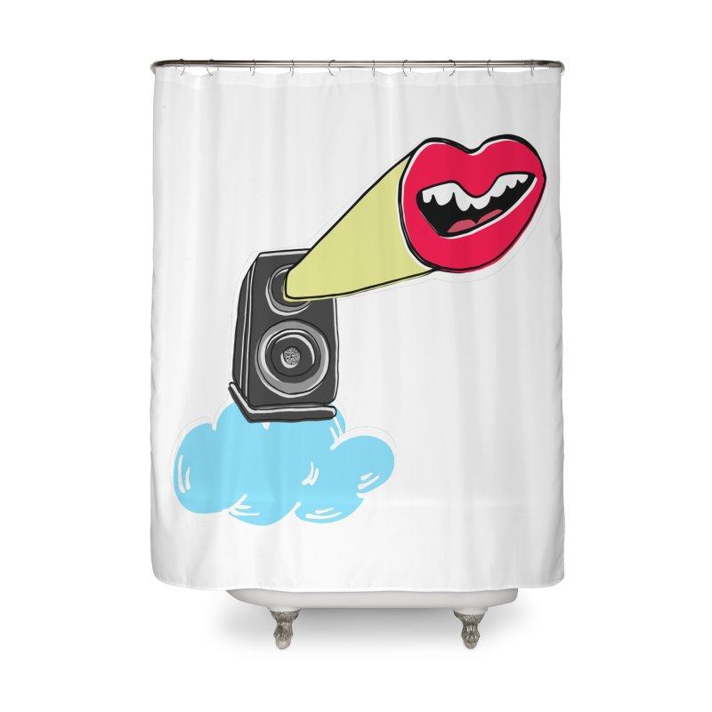 Speak Up Speaker Home Shower Curtain by julianepieper's Artist Shop
