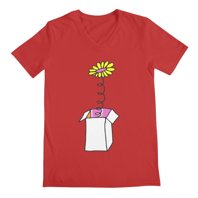 Flowerbox Men's V-Neck by julianepieper's Artist Shop