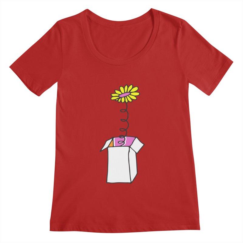 Flowerbox Women's Scoopneck by julianepieper's Artist Shop