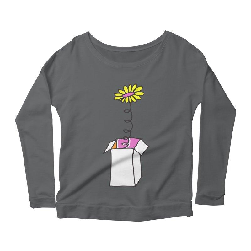 Flowerbox Women's Longsleeve Scoopneck  by julianepieper's Artist Shop