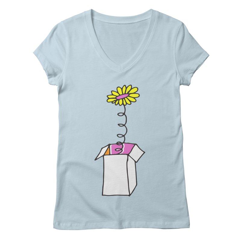 Flowerbox Women's V-Neck by julianepieper's Artist Shop
