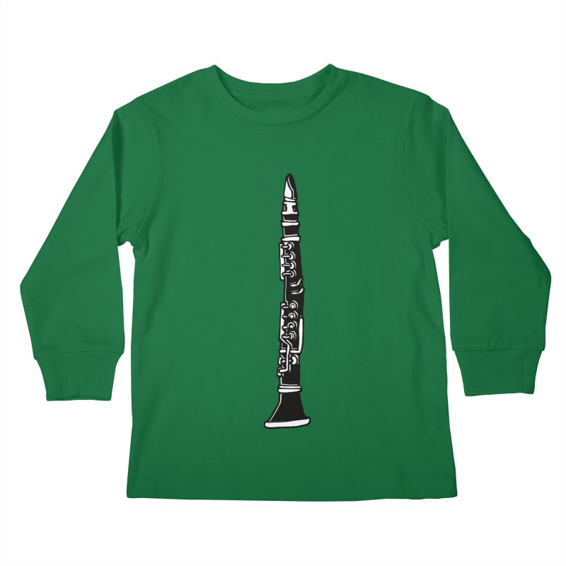 Clarinet Kids Longsleeve T-Shirt by julianepieper's Artist Shop