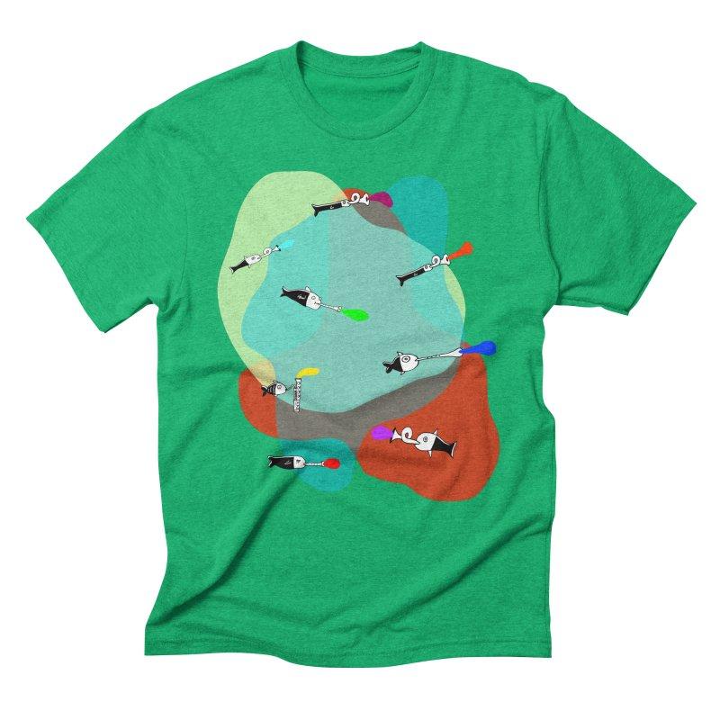 Underwater Orchestra Men's Triblend T-shirt by julianepieper's Artist Shop