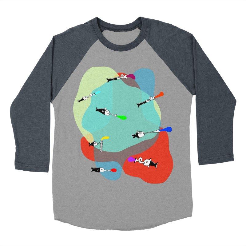 Underwater Orchestra Men's Baseball Triblend T-Shirt by julianepieper's Artist Shop
