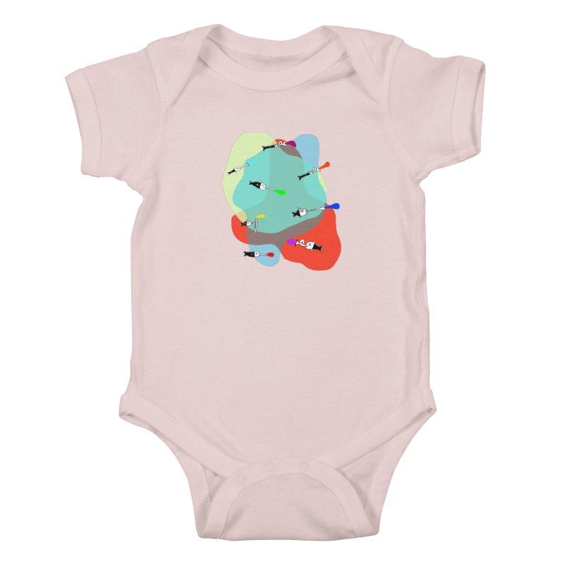 Underwater Orchestra Kids Baby Bodysuit by julianepieper's Artist Shop