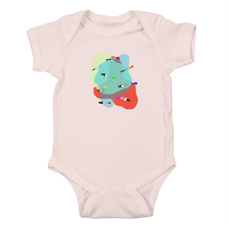 Underwater Orchestra Kids Baby Bodysuit by julianepieper's Artist Shop