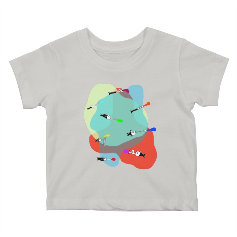 Underwater Orchestra Kids Baby T-Shirt by julianepieper's Artist Shop