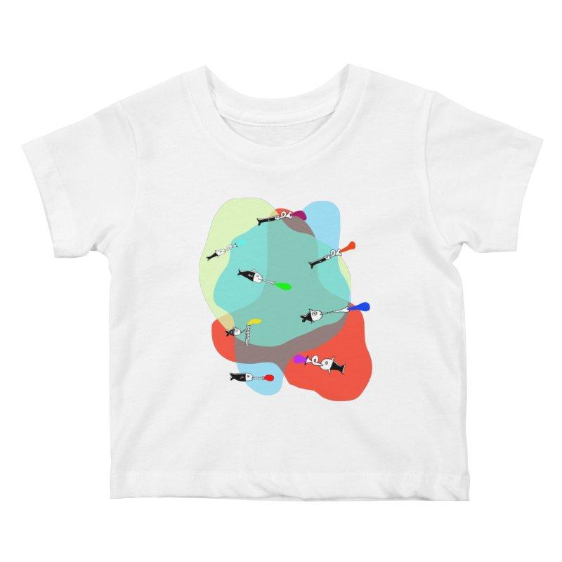 Underwater Orchestra Kids Baby T-Shirt by julianepieper's Artist Shop