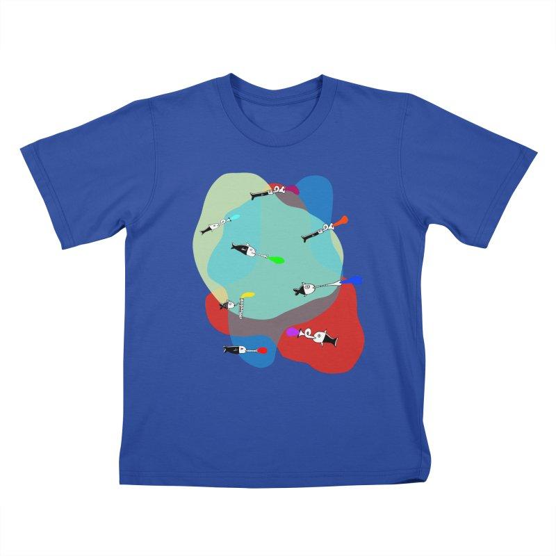 Underwater Orchestra Kids T-shirt by julianepieper's Artist Shop