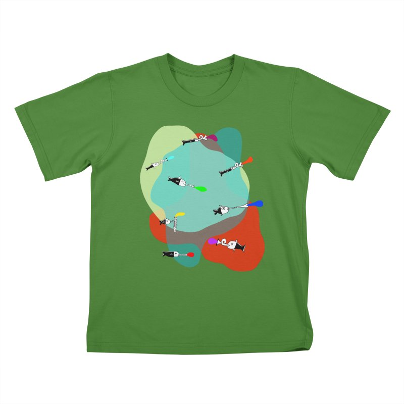 Underwater Orchestra Kids T-Shirt by julianepieper's Artist Shop