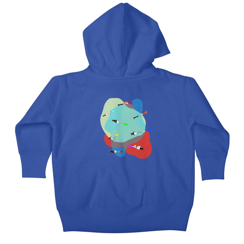 Underwater Orchestra Kids Baby Zip-Up Hoody by julianepieper's Artist Shop