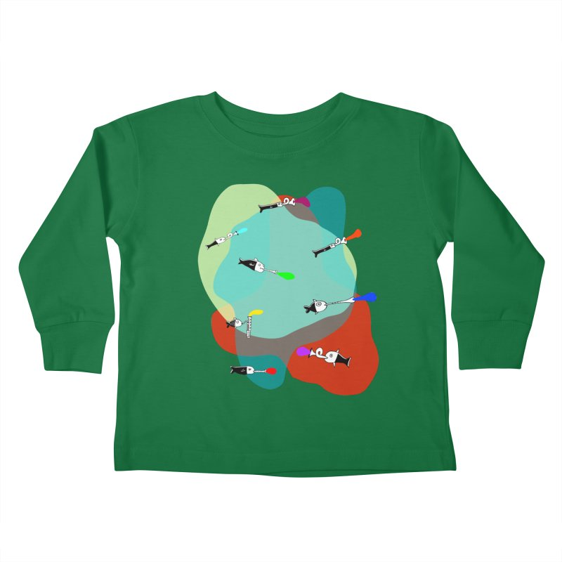 Underwater Orchestra Kids Toddler Longsleeve T-Shirt by julianepieper's Artist Shop