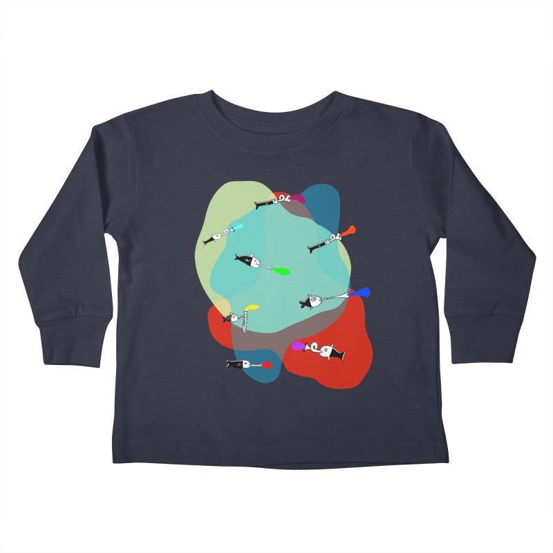Underwater Orchestra Kids Toddler Longsleeve T-Shirt by julianepieper's Artist Shop