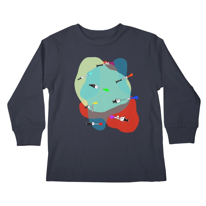 Underwater Orchestra Kids Longsleeve T-Shirt by julianepieper's Artist Shop