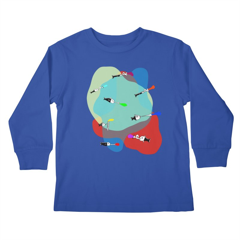Underwater Orchestra Kids Longsleeve T-Shirt by julianepieper's Artist Shop