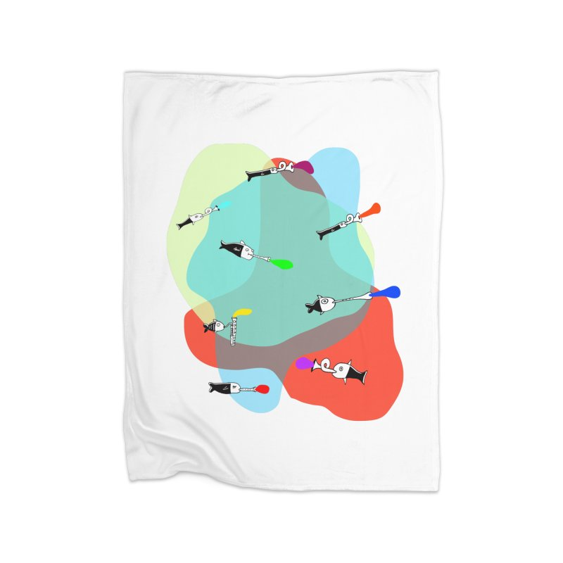 Underwater Orchestra Home Blanket by julianepieper's Artist Shop
