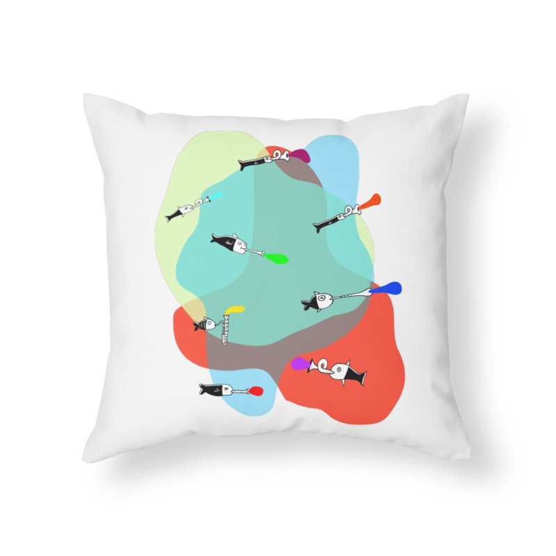 Underwater Orchestra Home Throw Pillow by julianepieper's Artist Shop