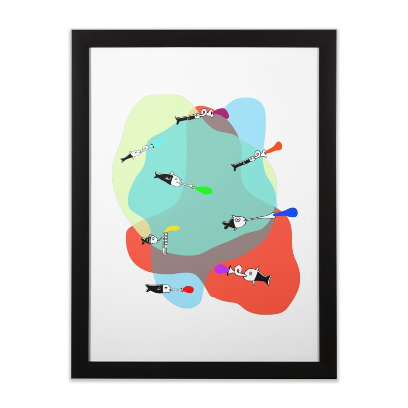 Underwater Orchestra Home Framed Fine Art Print by julianepieper's Artist Shop